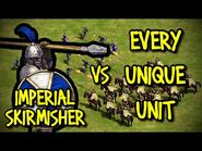 IMPERIAL SKIRMISHER vs EVERY UNIQUE UNIT - AoE II- Definitive Edition