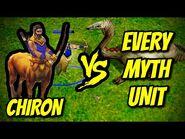 CHIRON (Hero) vs EVERY MYTH UNIT - Age of Mythology