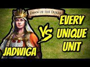 JADWIGA vs EVERY UNIQUE UNIT - AoE II- Definitive Edition