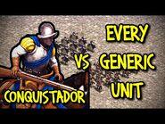 ELITE CONQUISTADOR vs EVERY GENERIC UNIT - AoE II- Definitive Edition