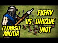 FLEMISH MILITIA vs EVERY UNIQUE UNIT - AoE II- Definitive Edition