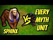 SPHINX vs EVERY MYTH UNIT - Age of Mythology