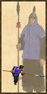 Qiang pikeman history portrait