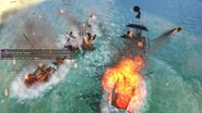Fire ship strike