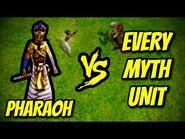 PHARAOH vs EVERY MYTH UNIT - Age of Mythology
