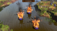 Three fire ships