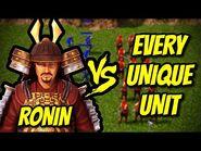 RONIN vs EVERY UNIQUE UNIT - AoE 3- Definitive Edition