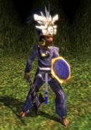 Zapotec lightning warrior model