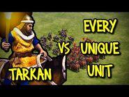 ELITE TARKAN vs EVERY UNIQUE UNIT - AoE II- Definitive Edition