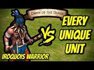 Iroquois Warrior vs EVERY UNIQUE UNIT - AoE II- Definitive Edition