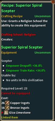 Recipe superior spiral scepter.png