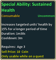 Uncommon sustained health inf