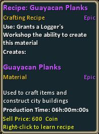 Recipe guayacan planks.png
