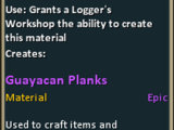 Recipe: Guayacan Planks