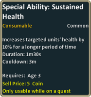 Common sustained health inf