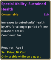 Special ability sustained health tooltip