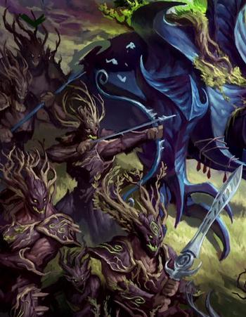 Cazadores de Kurnoth Hunters Sylvaneth ilustración.png