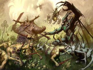 Demonios de Nurgle vs Sylvaneth Ghyran Sigmaroteca.jpg