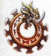Emblema Logia Greyfyrds Matadores Ígneos Fyreslayers Sigmaroteca