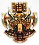 Emblema Logia Volturung Matadores Ígneos Fyreslayers Sigmaroteca