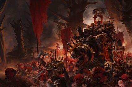 Señor de Khorne en Juggernaut ilustracion sigmaroteca.jpg