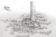 Авангард-город-концепт-арт