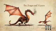Огненный дракон-концепт-арт