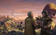 Эрнест и Ветчинкенс обсуждают планы действий