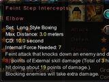 Feint Step Intercepts Elbow