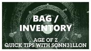 Age of Z - Quick Tips - Bag Inventory