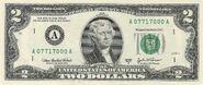 US $2 bill obverse series 2003 A