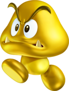 Gold Goomba Artwork - New Super Mario Bros. 2