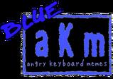 Blue AKM logo