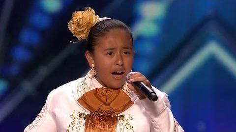 America's Got Talent 2015 S10E03 Alondra Santos 13 Year Old Mariachi Singer