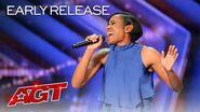 Two-Time Olympic Runner Shevon Nieto Sings An Emotional Original - America's Got Talent 2020