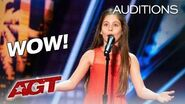 "10-Year-Old Singer Emanne Beasha STUNS With ""Nessun Dorma""- America's Got Talent 2019"