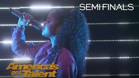 "Amanda Mena Teen Singer Puts Incredible Twist On Pharrell's ""Happy"" - America's Got Talent 2018"