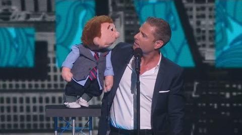 America's Got Talent 2015 S10E15 Live Shows - Paul Zerdin Genius Ventriloquist