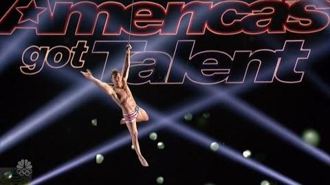 America's Got Talent 2016 Aerialist Charlie Placais Full Judge Cuts Clips S11E10