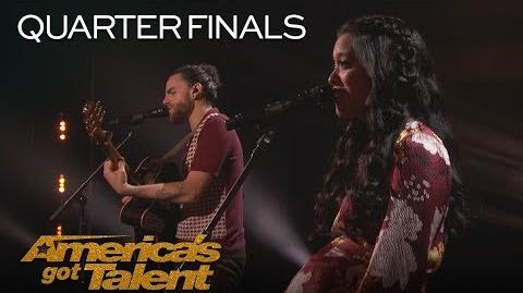 """Us The Duo Married Couple Sings Adorable Original """"Like I Did With You"""" - America's Got Talent 2018"""