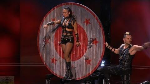 America's Got Talent 2016 Deadly Games Sexiest Knife Throwing Act Ever Full Judge Cuts Clip S11E0