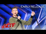Early Release- The Judges Can't Stop Laughing at Cam Bertrand's Comedy - America's Got Talent 2021