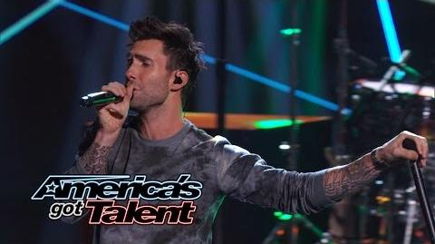 "Maroon 5 Adam Levine and Band Perform ""Maps"" - America's Got Talent 2014"