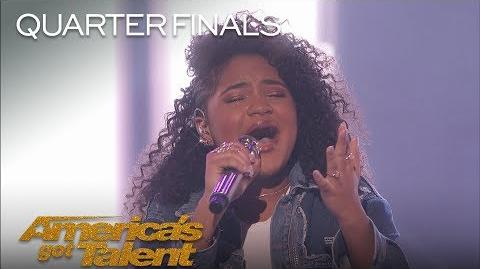 """Amanda Mena Teen Sings Pink's """"What About Us"""" Bilingually - America's Got Talent 2018"""