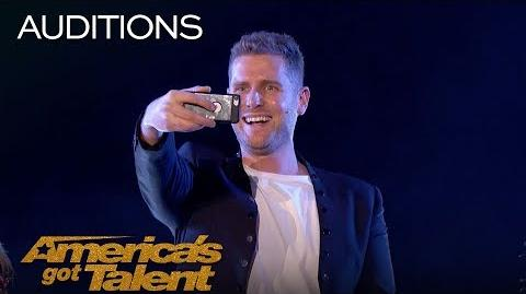 Rob Lake Illusionist Appears Out Of Thin Air - America's Got Talent 2018