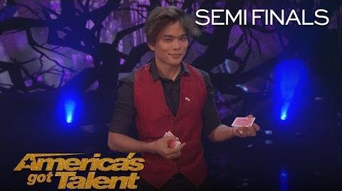 Shin Lim Magician Bends Reality With Incredible Smoke Card Tricks - America's Got Talent 2018
