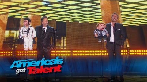 Paul Zerdin Terry Fator Joins Ventriloquist Onstage - America's Got Talent 2015 Finale