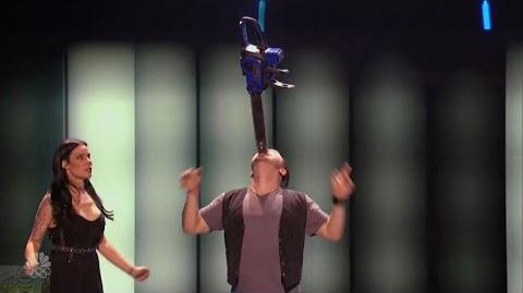 America's Got Talent 2016 Ryan Stock & AmberLynn Carnie Daredevil Full Judge Cuts Clips S11E10