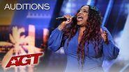 Background Singer Carmen Carter Takes Her Turn At The Spotlight - America's Got Talent 2019