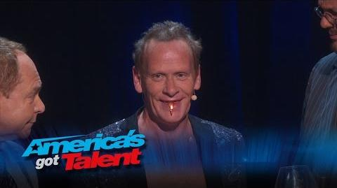 The Professional Regurgitator Act Joins Penn & Teller Onstage - America's Got Talent 2015 Finale